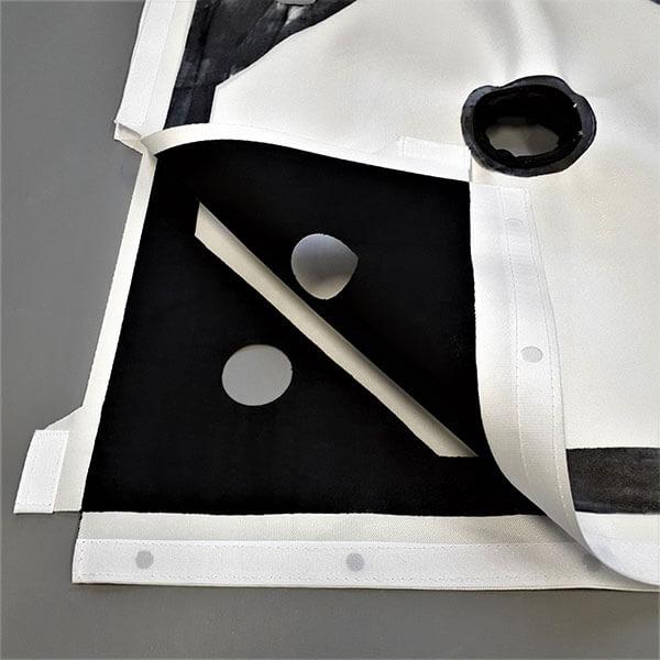 Detalhe da lona para filtro prensa com acabamento emborrachado