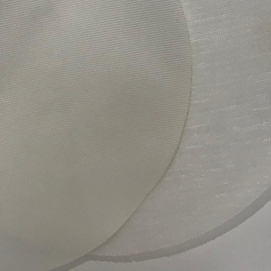 detalhe de dois tecidos para tambor rotativo