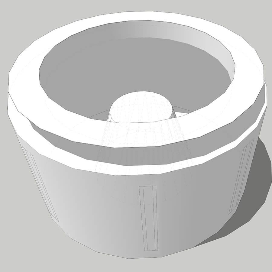 imagem 3D da bolsa para centrífuga