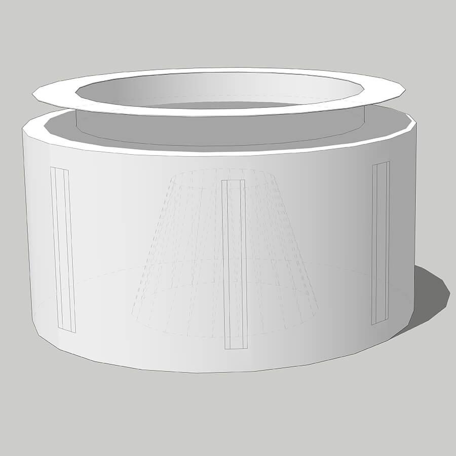 imagem 3D da bolsa para centrífuga com reforço lateral