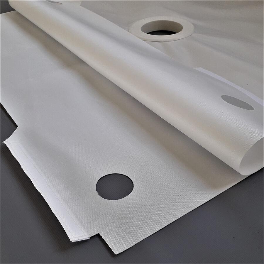 detalhe de fabricação da lona para filtro prensa