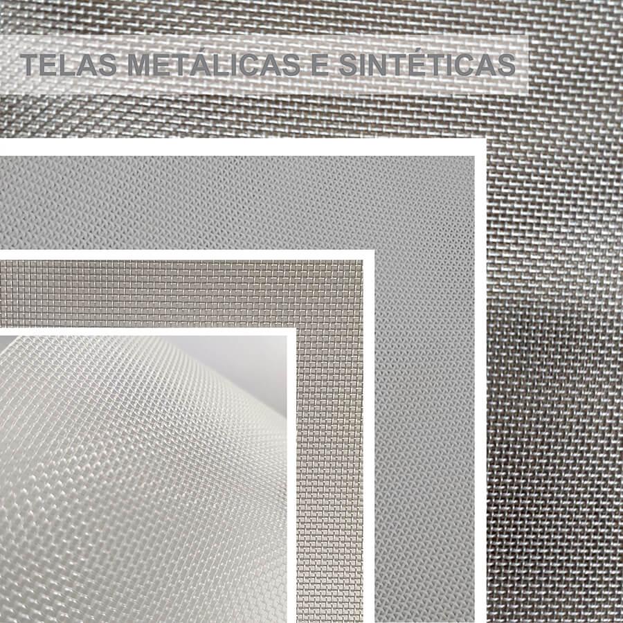 telas metálicas e sintéticas para peneira rotativa