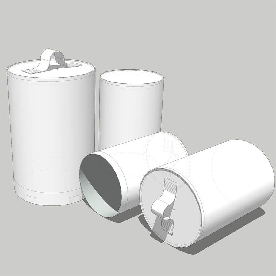 Projeto 3D de alguns modelos dos sacos coletores de pó