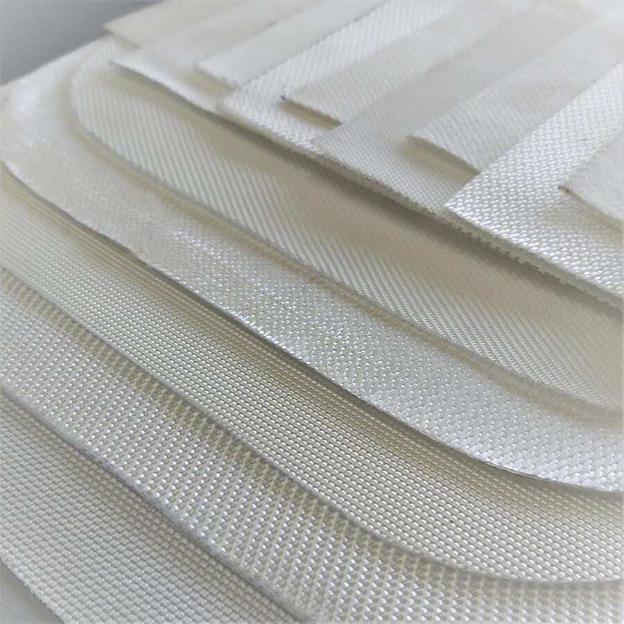 Imagem detalhe de vários tipos de tecidos filtrantes