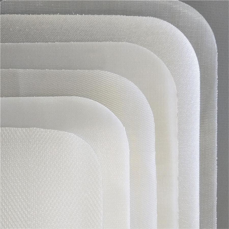 Vários tipos de tecidos filtrantes