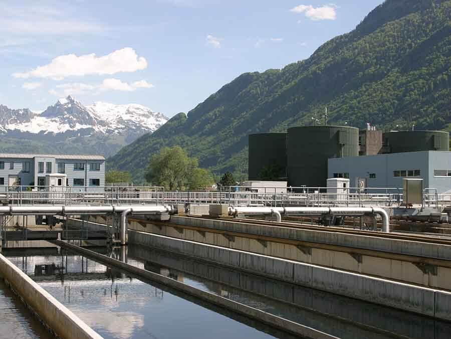 imagem do sistema de tratamento de efluentes industriais
