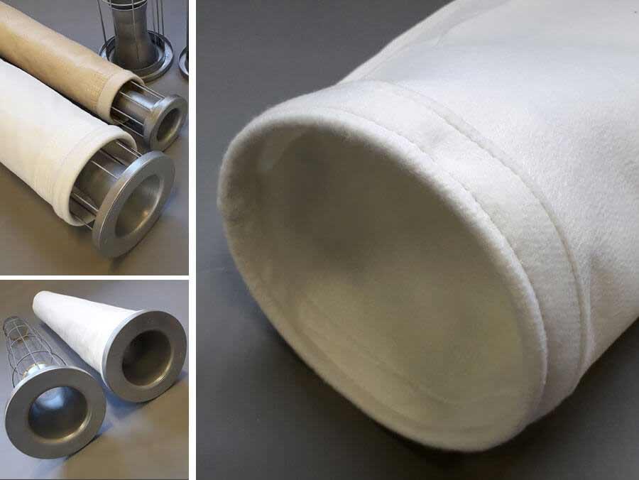 Manga filtrante detalhe da costura, manga filtrante nomex, manga filtrante em feltro e gaiolas para mangas filtrantes